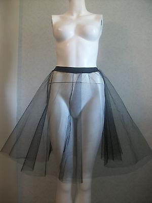 OLL JIVE WHITE/ BLACK PLUS SIZE STIFF NET SKIRT / PETTICOAT (Plus Size Petticoat Rock)