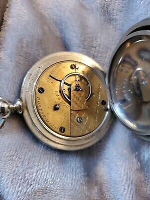 Model 1857 post civil Waltham 18S Keywind Pocket Watch Home Watch Co. Model RUNS