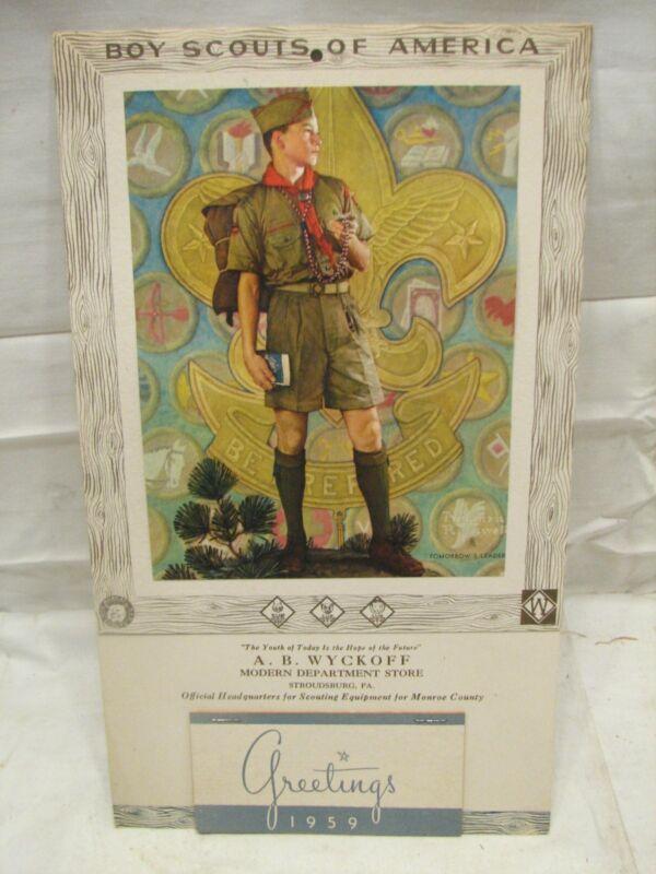 Boy Scouts 1959 Advertising Calendar Full Pad BSA