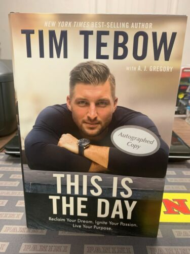 Tim Tebow Autographed First Edition Book This Is The Day Signed RARE Auto