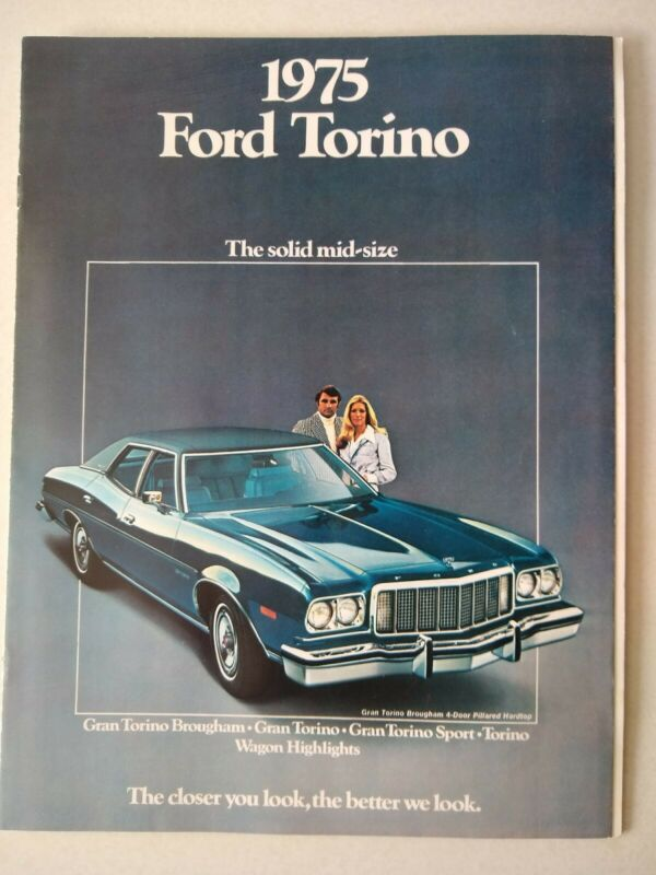 Ford 1975 Torino Auto Dealership Sales Catalog, Showroom Advertisement