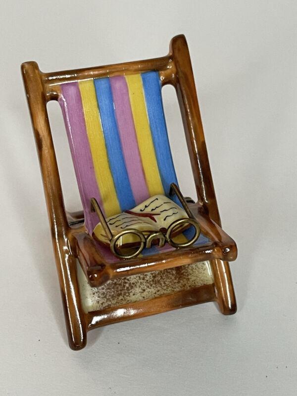 Limoges france beach chair trinket box
