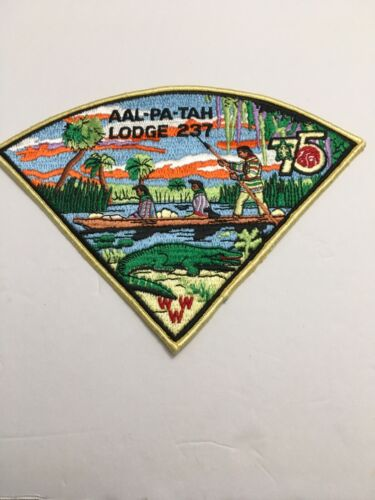 AAL-PA-TAH LODGE 237 75TH ANNIVERSARY NECKERCHIEF PATCH