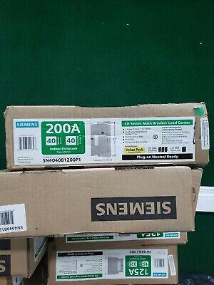 Siemens Main Breaker Box Sn Series 200 Amp 40-space 40-circuit Plug-on Neutral