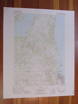 Traverse City SW Michigan 1984 Original Vintage USGS Topo Map