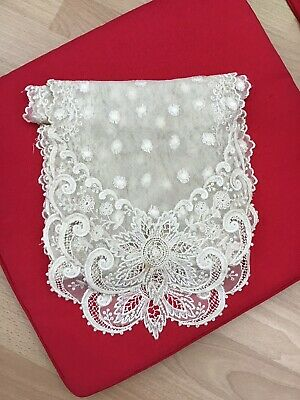 ~Pretty Ivory NOTTINGHAM Double Flower Lace  4.5 cm Wedding//Baby//Cards//Costume