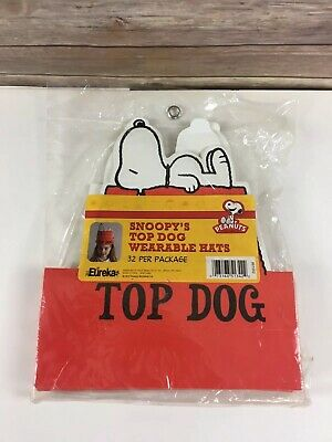 Snoopy Top Dog Party Hat LOT of 32 Peanuts Party Favors - Snoopy Party Favors