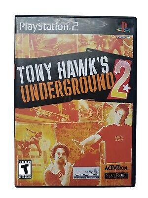 Tony Hawk's Underground 2 (Sony PlayStation 2, PS2) CIB W/Manual