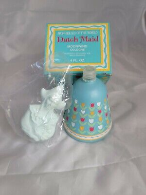 Vintage Avon Belles of the World DUTCH MAID Moonwind Cologne 4 oz New in Box