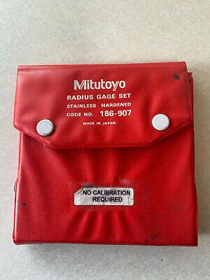 Mitutoyo Radius Gage Set 186-907