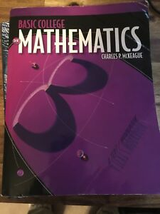 Basic College Mathematics 3rd edition by McKeague