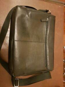 "15"" Colorado black leather bag (NEW)"