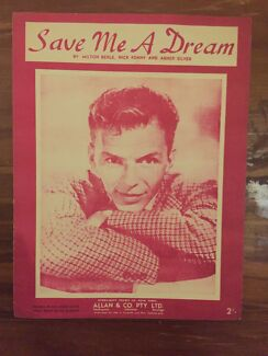 Save Me a Dream 1946 Frank Sinatra on cover vintage music sheet Osborne Port Adelaide Area Preview