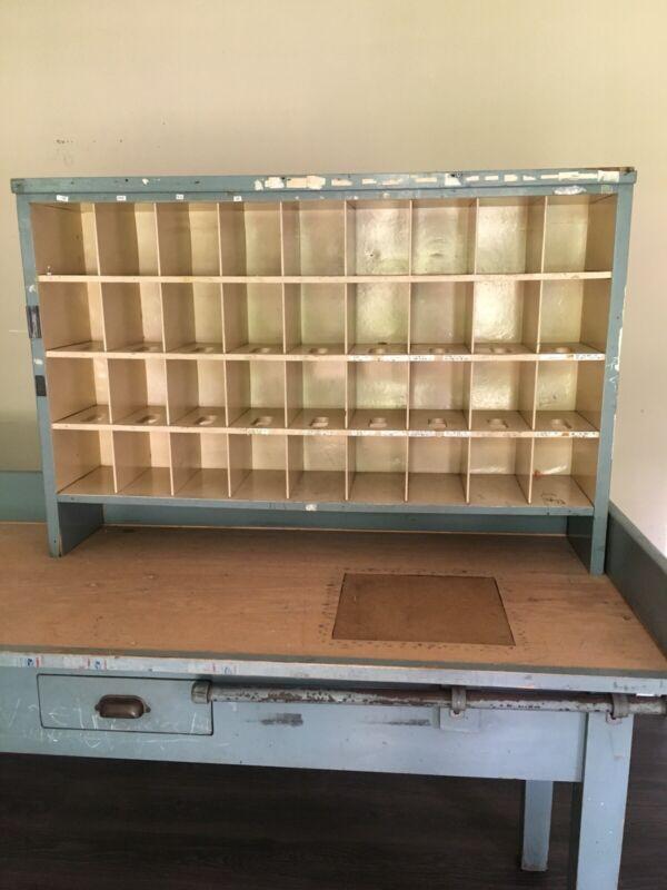 Post Office Cubby Desk Slots Vintage