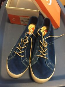 Ladies Blue suede Softinos sneakers size 41 -NEW!
