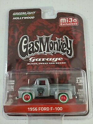 Greenlight 1956 FORD F-100 CHASE 1/100: 56 Pickup GAS MONKEY GARAGE