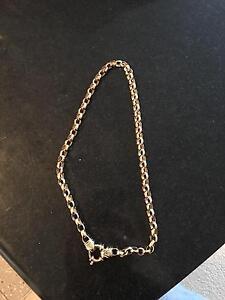 9ct gold belcher necklace Halls Head Mandurah Area Preview