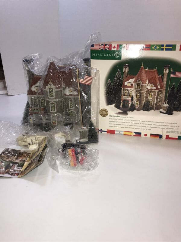 Department 56 Christmas In The City #58951 The Consulate Sealed NIB