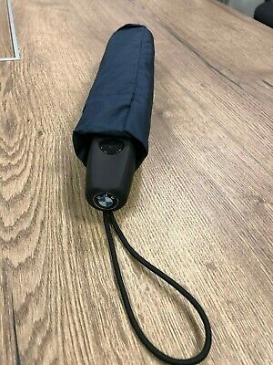 Genuine BMW MINI Automatic Travel Umbrella Brolly in Blue Discreet BMW Logo New