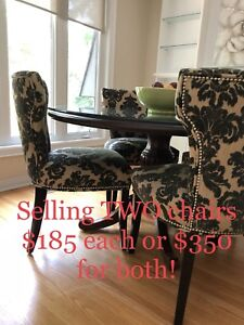 Dining Room Chairs   TWO Available