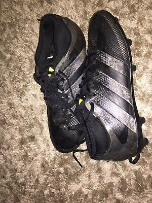 ADIDAS ACE 16.1 PRIMEKNIT FIRM FOOTBALL BOOTS BLACK SIZE UK 9