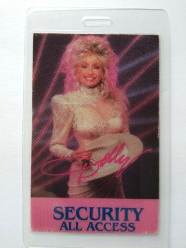 Dolly Parton Backstage Pass Original 1987 Think About Love Tour Country Security