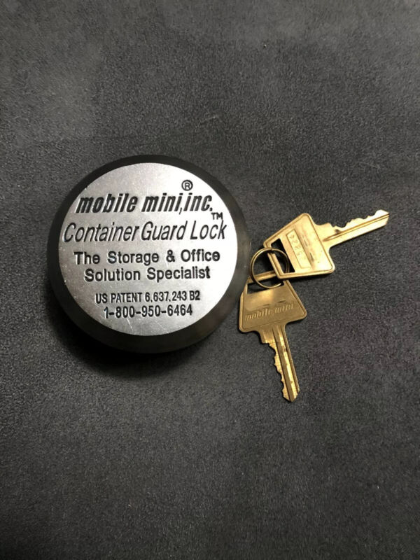 New Without Box Mobile Mini Storage Container Guard Lock & 2 Keys-free Shipping