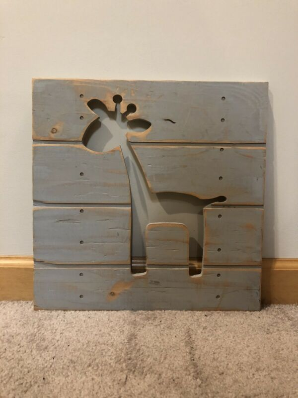 Wall Decor Wooden Girraffe Kids Toddler And Baby Room
