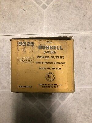 Hubbell 9325 Flanged Power Outlet 50amp 125250 Volt
