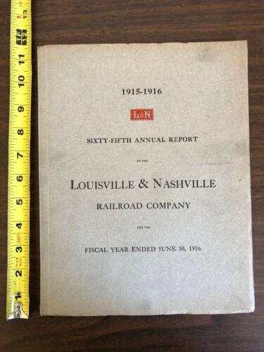 1915-1916 Louisville & Nashville Railroad Company 65th Annual Report Map