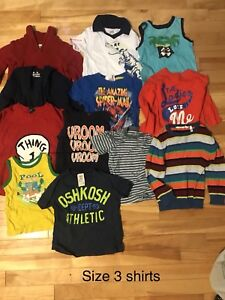 Size 3 boys name brand shirts