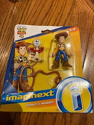FISHER PRICE IMAGINEXT TOY STORY 4 FORKY AND WOODY FIGURES HARD TO FIND