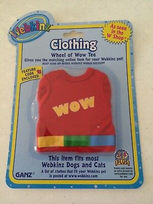 WEBKINZ Clothing ~ Wheel of WOW Tee Shirt ~ Clothes ~ Online Code ~ NEW ~ GANZ
