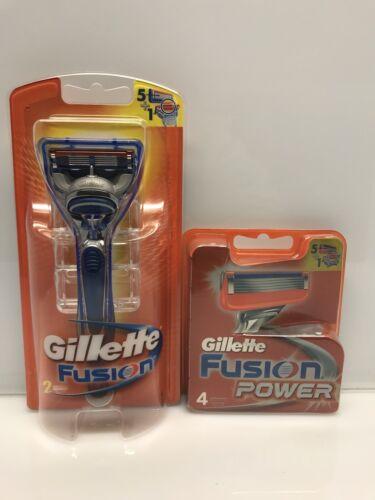 6 Gillette Fusion Power Rasierklingen + Rasierer in OVP mit Seriennummer