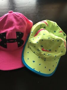 Two you hats - hardly used!  Adjustable back