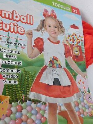 Gumball Machine Costume Toddler 2 2T Halloween Dress Up