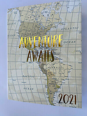 2021 Planner Calendar Weekly Appointment Book Journal Wold Map 9x7