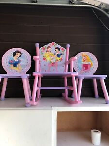 Disney princess chairs, table and step