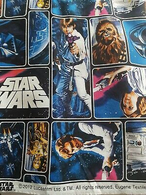 Retro Star Wars Cotton Fabric,  110cm wide C3PO Han Solo R2D2 Leia