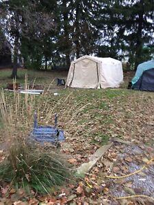 Tent garage frames