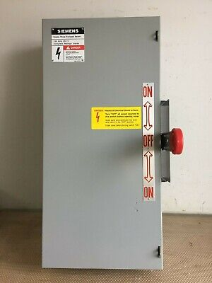 Siemens Nf323dtk 100 Amp 240 Volt 3 Phase Nfused Double Throw Transfer Switch