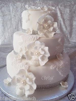 Zuckerblumen  Riesen Fondant Blumen Ohne DrahtTortendeko Hochzeit Tortenaufleger