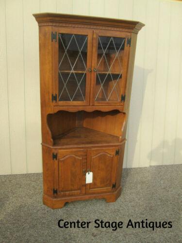 58483  Solid Maple ETHAN ALLEN American Traditional Corner Cabinet Hutch Curio