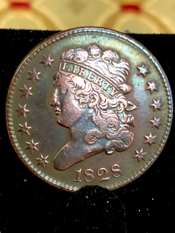 EXTRA NICE 1828 Coronet Large Cent Large Narrow Date