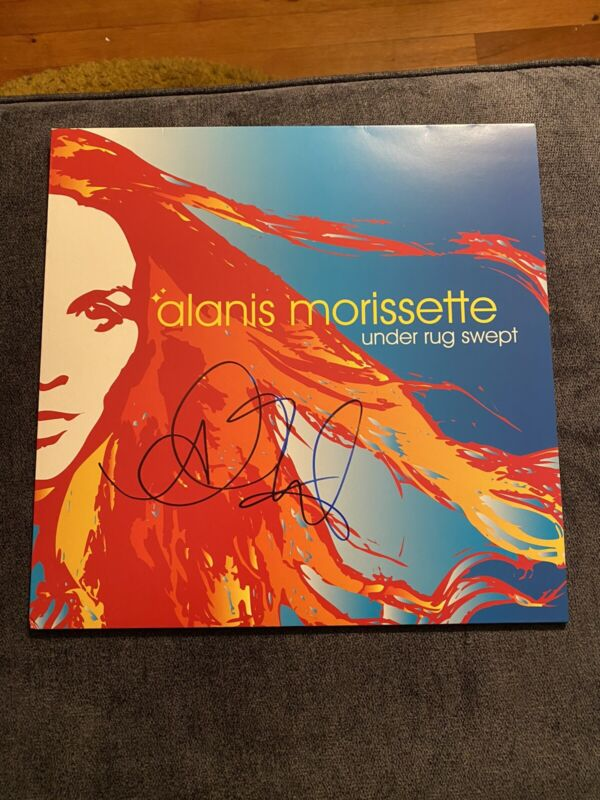 """alanis morissette """"Under Rug Swept"""" signed Viynl"""