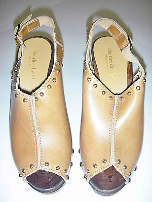 Charles David Womens Esty Sandal  Camel  6 M Us Made In Italy