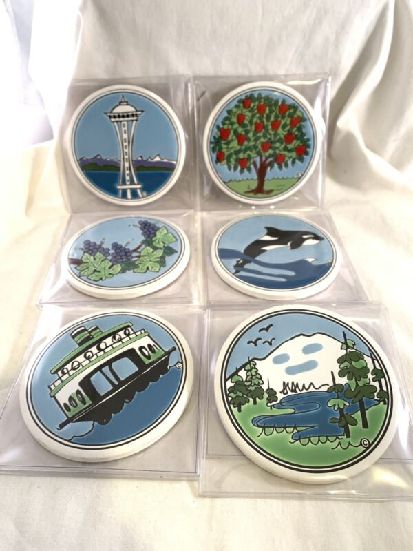 6 Pacific Northwest Scene Coasters