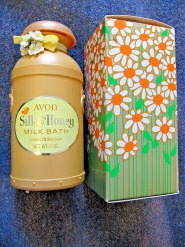 Vintage Avon Silk & Honey Milk Bath FULL ~ Plastic Bottle 1970