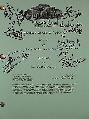 The Suite Life of Zack & and Cody Signed TV Script Ashley Tisdale Song reprint
