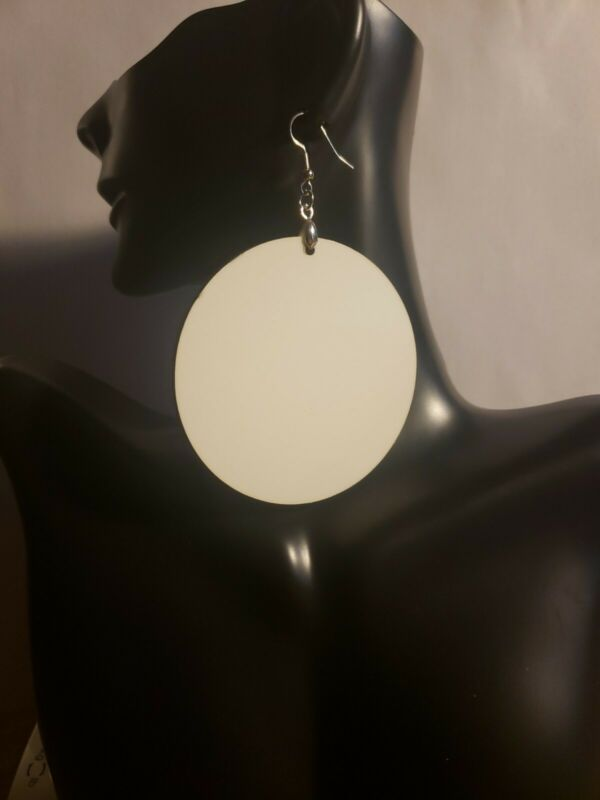 SUBLIMATION ROUND EARRINGS BLANK 2.50 INCH MDF HARDWOOD